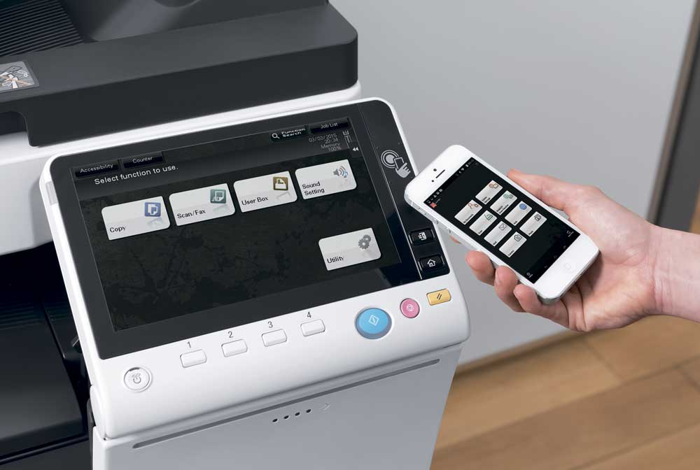 Develop ineo 227 location mobile printing